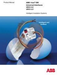 ABB i-bus® EIB Universal Interfaces US/U 4.2 US/U ... - WindowMaster