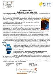 CelHerstelLezing 2 CelEnergie en bodyscan (EIS) - CITT