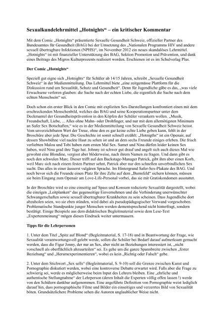 Bcs Beilage Zum Offenen Brief 2 An Die Migros Wg Hotnightspdf