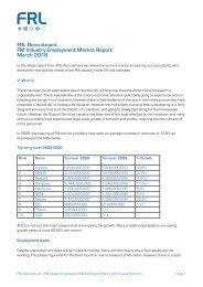 FRL Recruitment FM Industry Employment Market Report ... - i-FM.net
