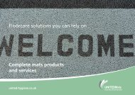 Complete mats products and services Floorcare solutions ... - i-FM.net