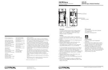 lutron grafik eye installation manual
