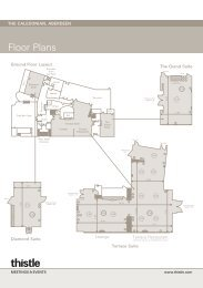 Floorplans - Thistle Hotels