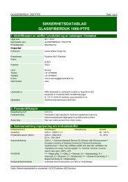 SIKKERHETSDATABLAD GLASSFIBERDUK 1000-PTFE