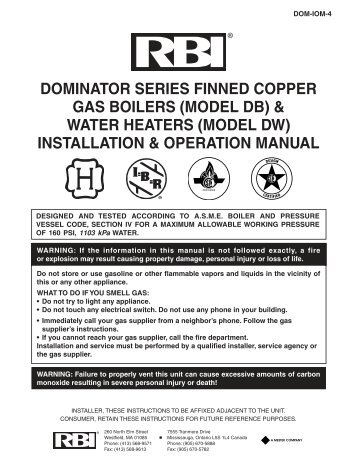 Solaris Boilers Categories On Thermal Solutions Products LLC - Rbi dominator boiler wiring diagram