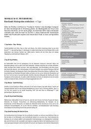 MOSKAU & ST. PETERSBURG Russlands Metropolen entdecken
