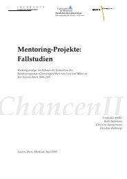 Mentoring-Projekte: Fallstudien - sfinx.ch