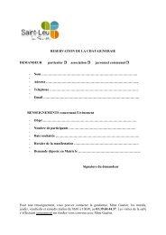 Formulaire Châtaigneraie - Saint-Leu-La-Forêt