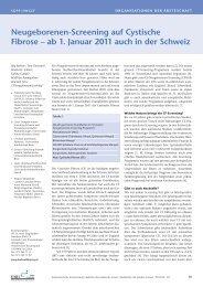 Neugeborenenscreening für CF - Schweizerische Gesellschaft für ...