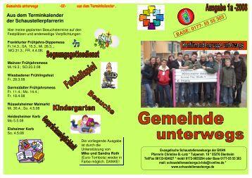 Gemeinde unterwegs 1-2008 - Evangelische Schaustellerseelsorge