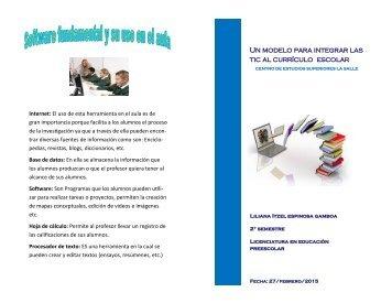 Un modelo para integrar las tic al currículo escolar