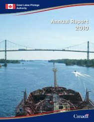 Annual Report 2010 - Great Lakes Pilot Authority, Canada