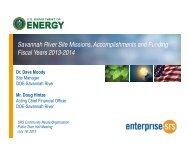FY 2014 SRS EM Budget Presentation - US Department of Energy ...