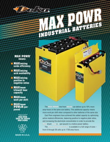 Deka MaxPower - Industrial Battery Products