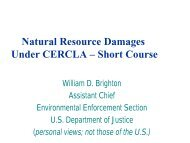 Natural Resource Damages under CERCLA - US Department of ...
