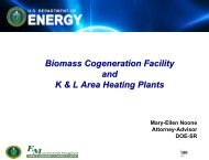 Biomass Cogeneration Facility and K & L Area Heating Plants