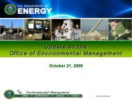 Update on the Office of Environmental Management
