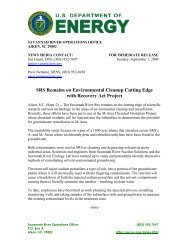 SR-09-20 - US Department of Energy Savannah River Operations ...