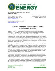 SR-2010-02 - US Department of Energy Savannah River Operations ...
