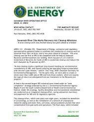 SR-2010-29 - US Department of Energy Savannah River Operations ...