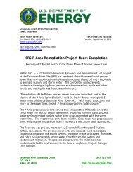 SR-2011-12 - US Department of Energy Savannah River Operations ...