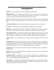 Definitions For Completion Of The Certificate Pertaining To Foreign ...