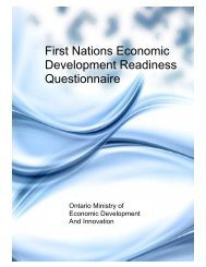 First Nations Economic Development Readiness ... - Chiefs of Ontario