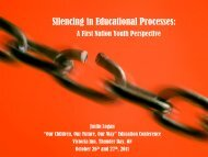 Silencing in Educational Processes: A First ... - Chiefs of Ontario
