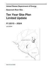 Ten Year Site Plan - US Department of Energy Savannah River ...