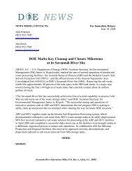 SR-08-01 - US Department of Energy Savannah River Operations ...