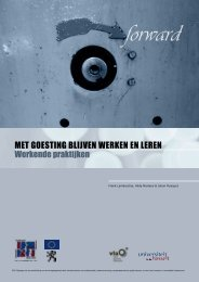Werkende praktijken - Werkgoesting Uhasselt - Universiteit Hasselt