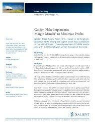 Golden Flake Implements Margin Minder® to Maximize Profits - Salient