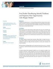 Fred Nesbit Distribution Case Study - Salient