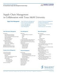 Supply Chain Management with Texas A&M - Salient