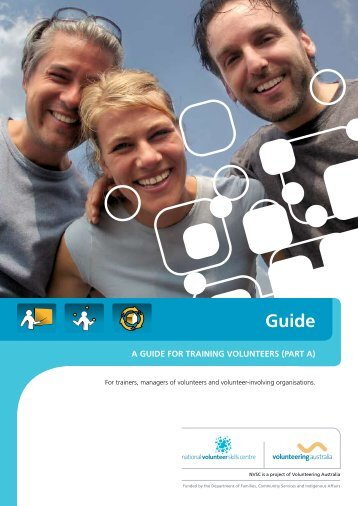 a guide for training volunteers (part a) - Volunteering Australia