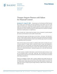 Transpac Imports Partners with Salient for Financial Control