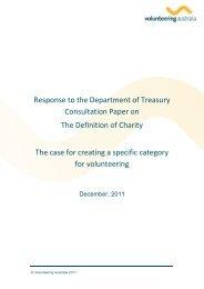 December 2011 - The Definition of Charity - Volunteering Australia