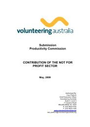 Submission Productivity Commission CONTRIBUTION OF THE NOT ...