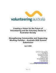 Creating a Vision for the Future of Volunteering and the Voluntary ...