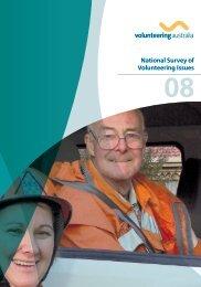 National Survey of Volunteering Issues 2008 - Volunteering Australia
