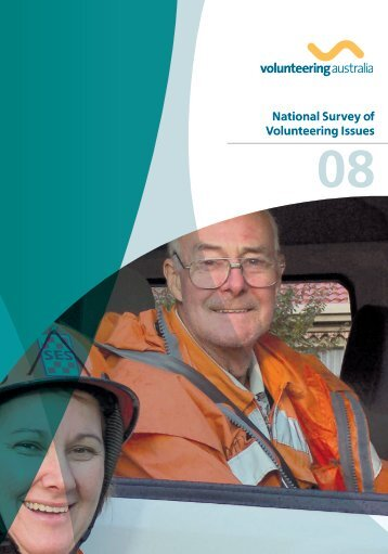 National Survey of Volunteering Issues 2008 - Volunteering Australia