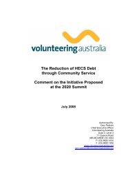 The Reduction of HECS Debt through Community Service Comment ...