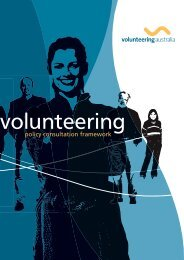 policy consultation framework - Volunteering Australia