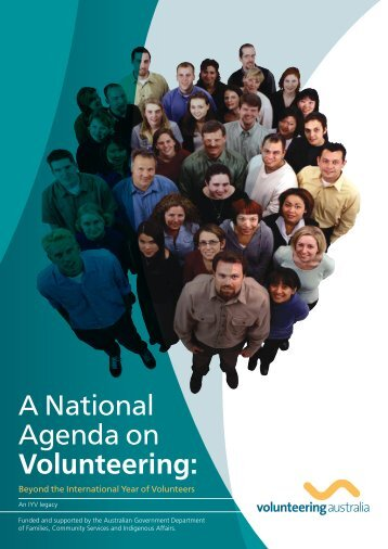 A National Agenda on Volunteering: - Volunteering Australia
