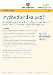 Involved and valued? - Volunteering Australia