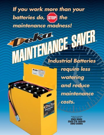 0603 (Maintenance-Saver) - Industrial Battery Products