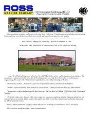 5-Axis Machining Centers - Ross Machine Company