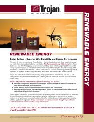 Renewable Energy - Industrial Battery Products