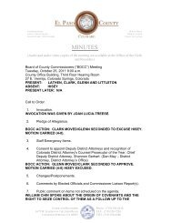 Tuesday, October 25, 2011 Minutes - El Paso County Government