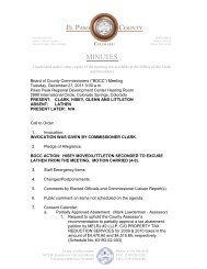 Tuesday, December 27, 2011 Minutes - El Paso County Government